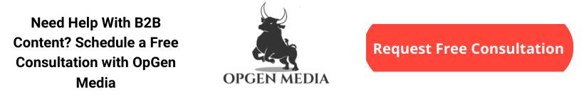 b2b content marketing consultation opgen media
